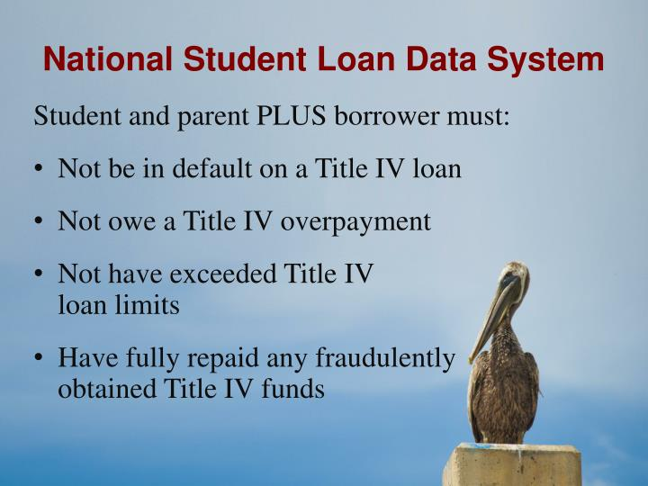 National Student Loan Data System