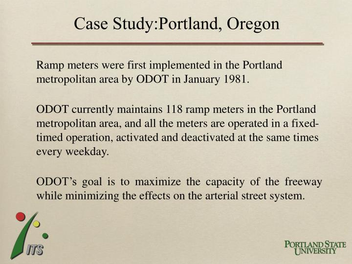 Case Study:Portland, Oregon
