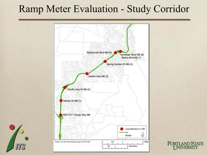 Ramp Meter Evaluation - Study Corridor