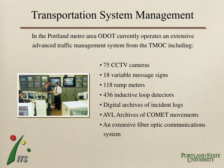 Transportation System Management