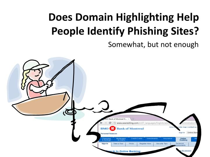 Does Domain Highlighting Help People Identify Phishing Sites?