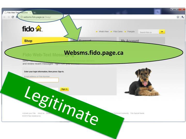 Websms.fido.page.ca