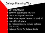 college planning tips