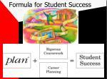 formula for student success