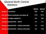 general north central statistics