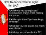 how to decide what is right for you