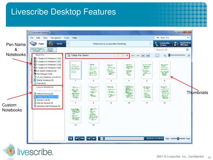 Livescribe Desktop Features