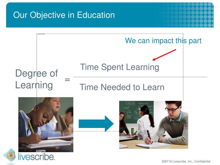 Our Objective in Education