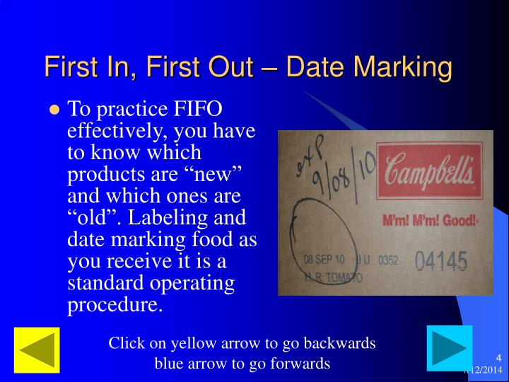 First In, First Out – Date Marking
