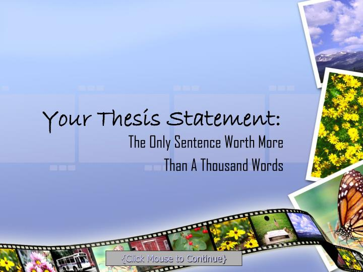 middle school thesis statement activity