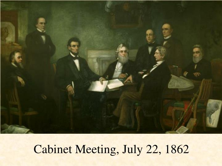 Cabinet Meeting, July 22, 1862