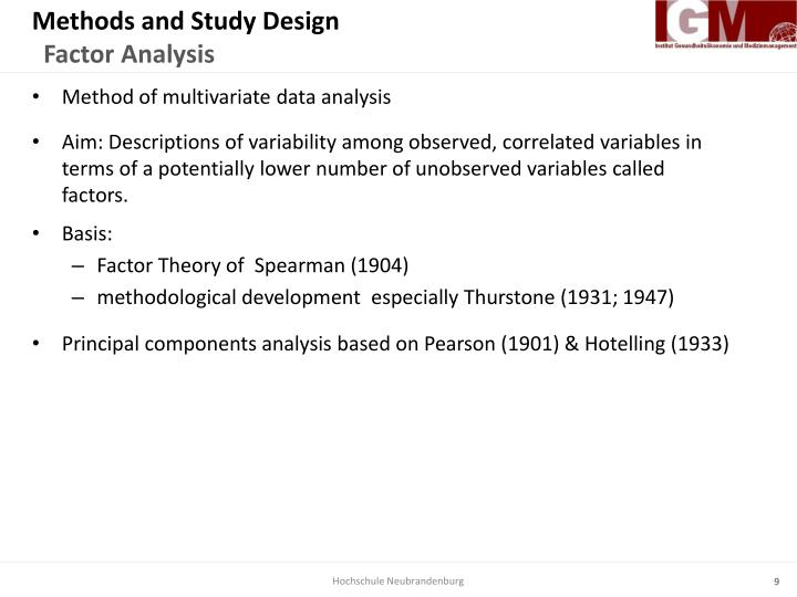 Methods and Study Design