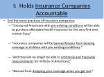 i holds insurance companies accountable