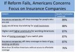 if reform fails americans concerns focus on insurance companies