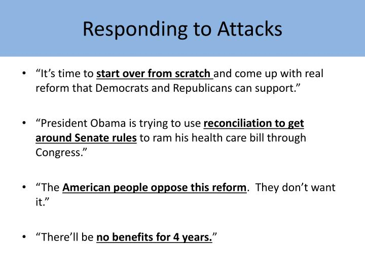 Responding to Attacks