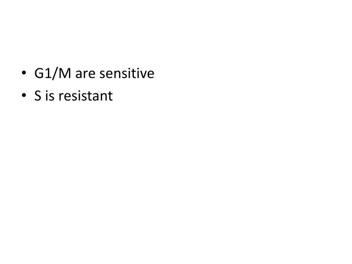 G1/M are sensitive