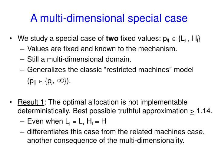 A multi-dimensional special case