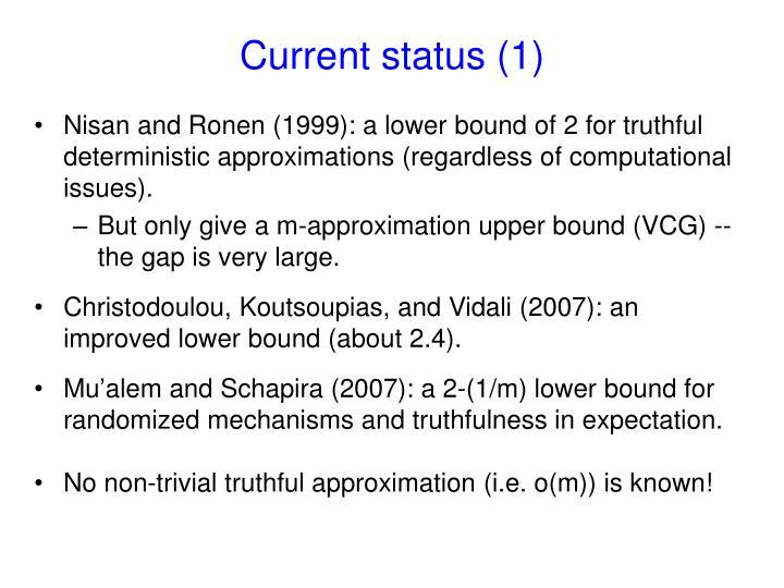 Current status (1)