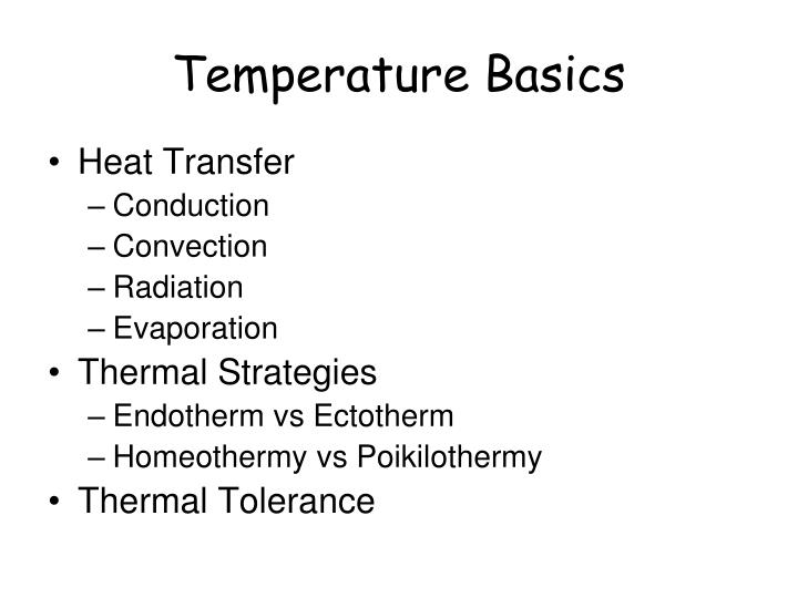 Temperature Basics