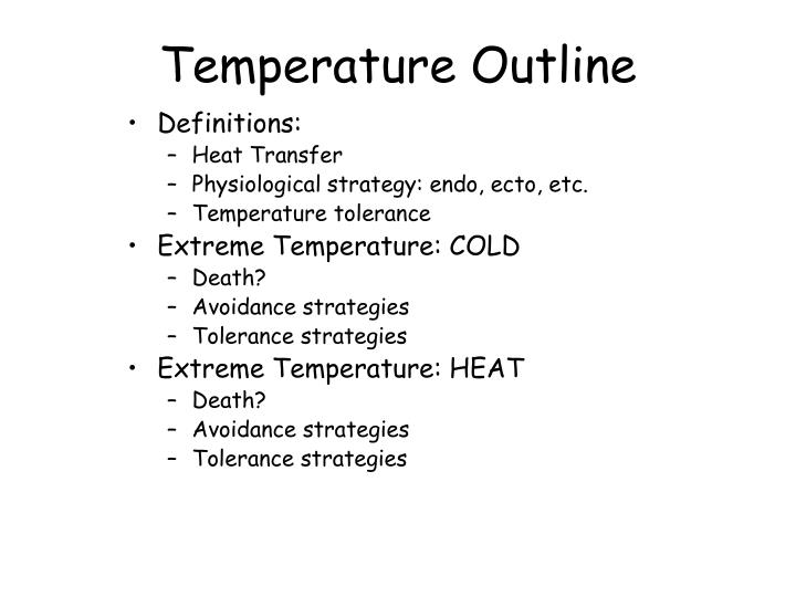 Temperature Outline