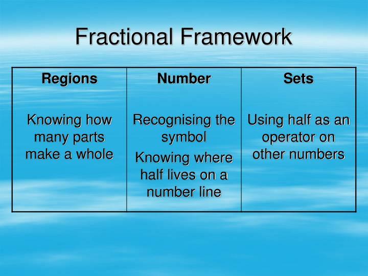 Fractional Framework