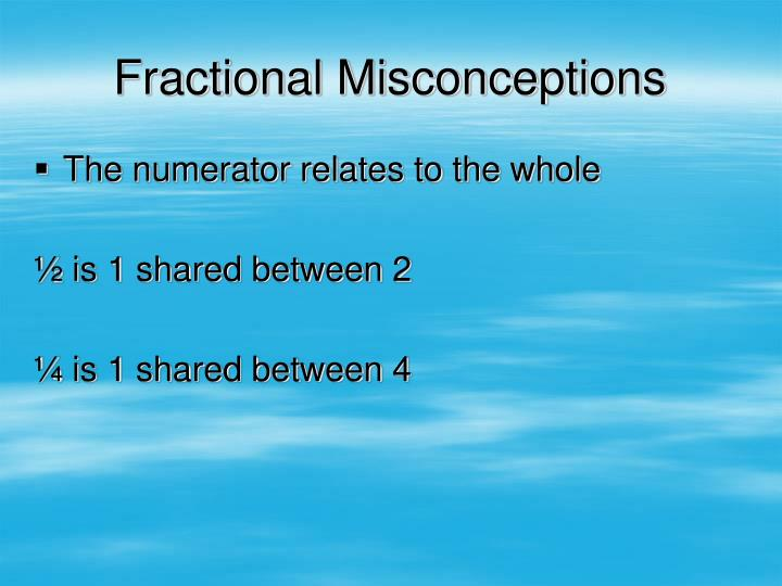 Fractional Misconceptions