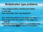 multiplication type problems