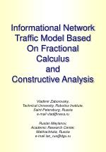 informational network traffic model based on fractional calculus and constructive analysis