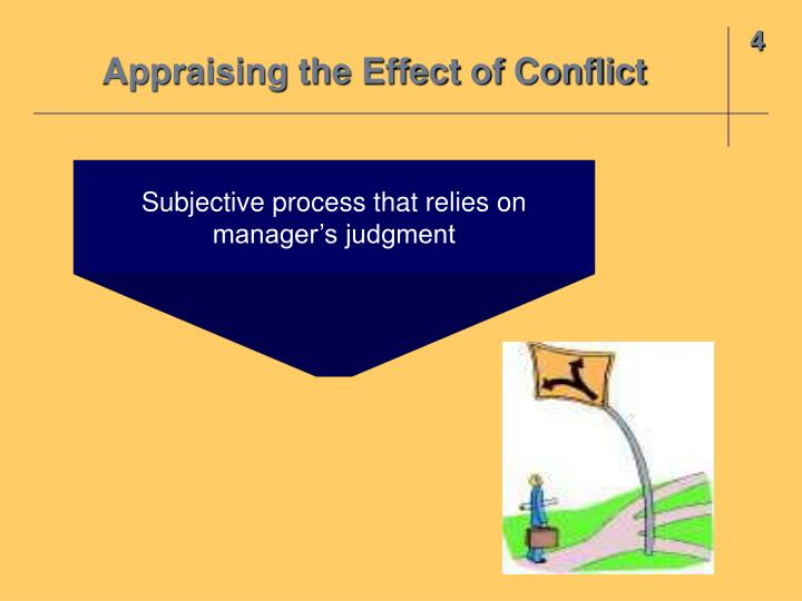 Appraising the Effect of Conflict