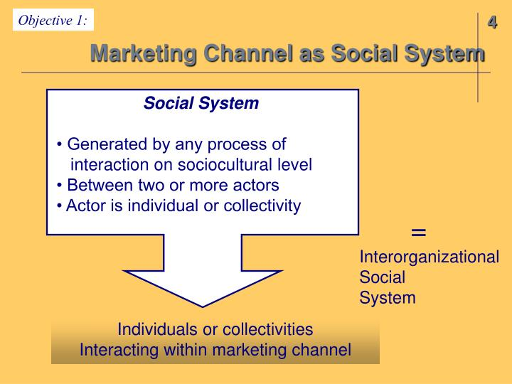 Marketing channel as social system