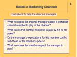 roles in marketing channels1