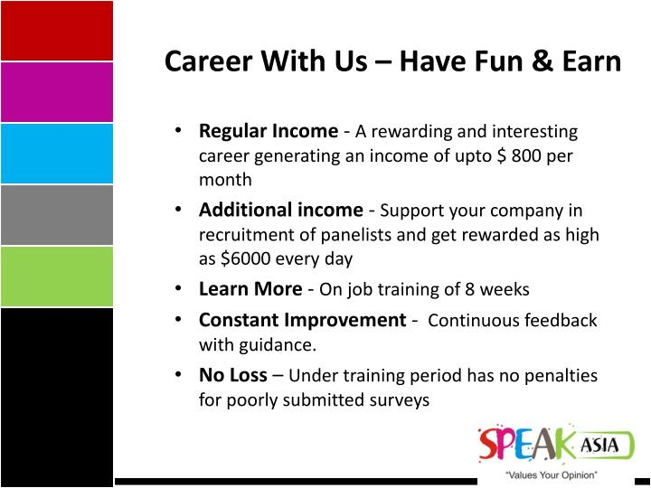 Career With Us – Have Fun & Earn