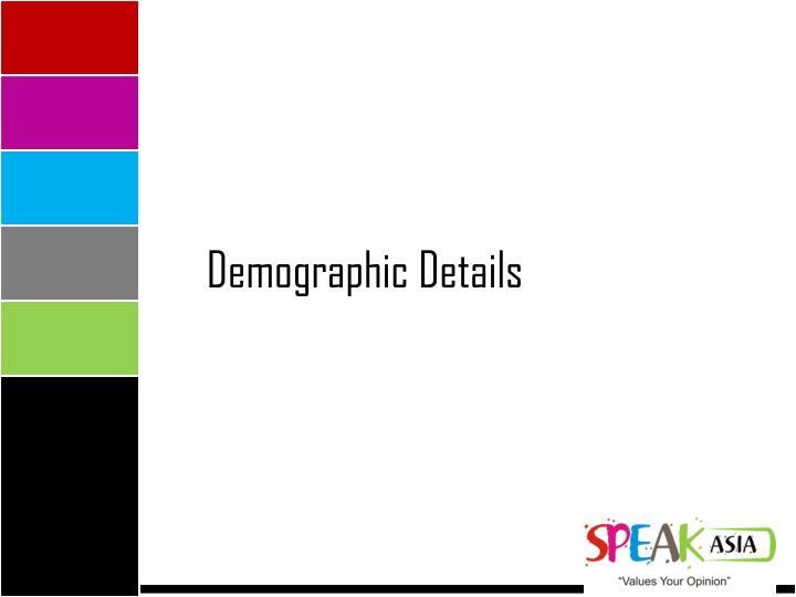 Demographic Details
