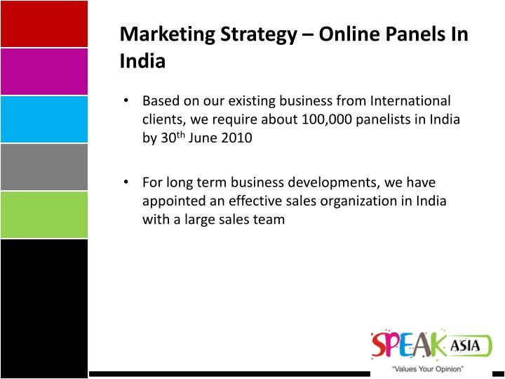 Marketing Strategy – Online Panels In India