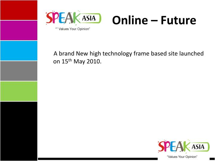 Online – Future