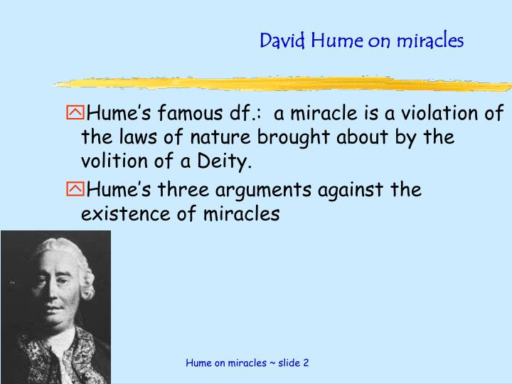 David hume on miracles1