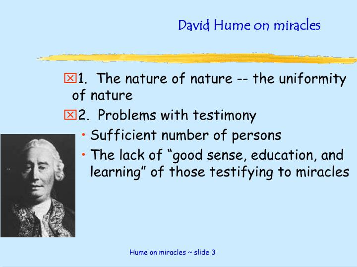 David hume on miracles2
