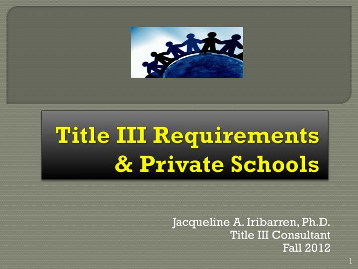 Title iii requirements private schools