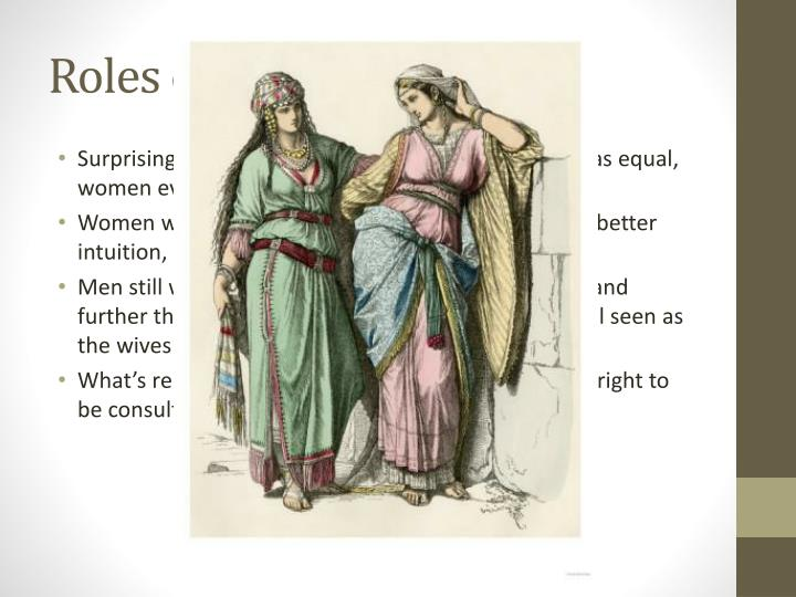 the roles of the women in the christianity and judaism The role of women in christianity is a  role of women in christianity modern  and men have different but equal roles in christianity,.