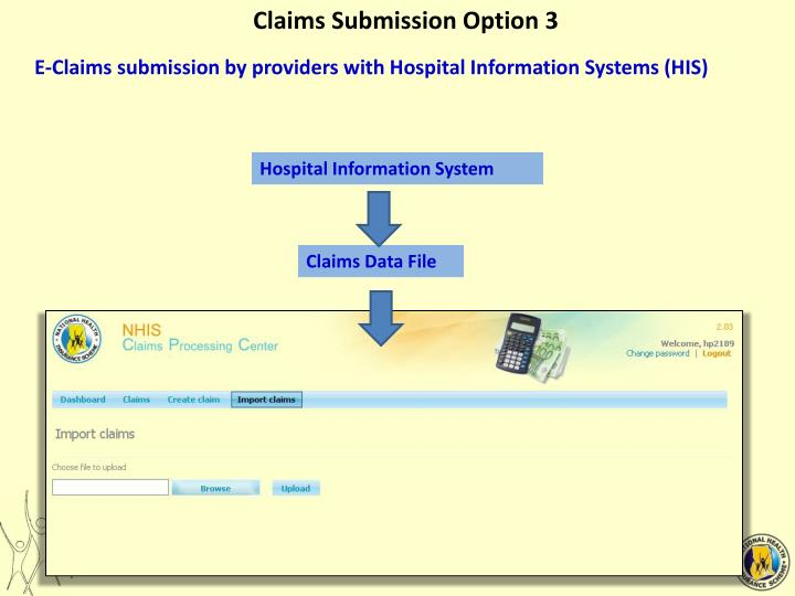 Claims Submission Option 3