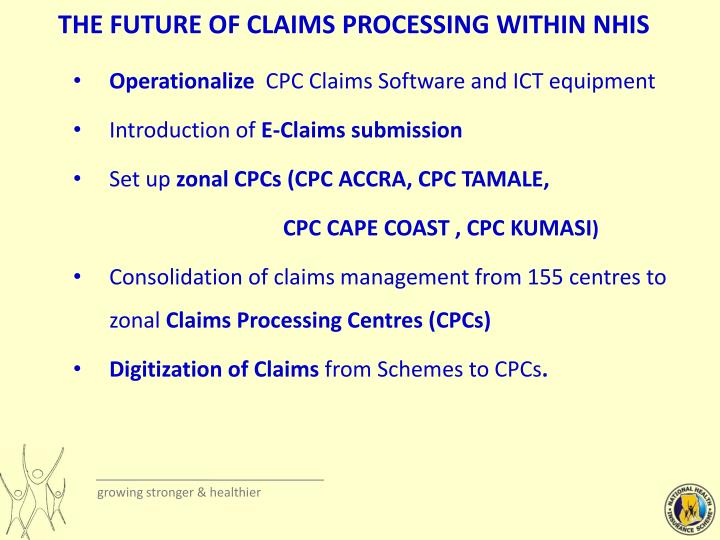 THE FUTURE OF CLAIMS PROCESSING WITHIN NHIS