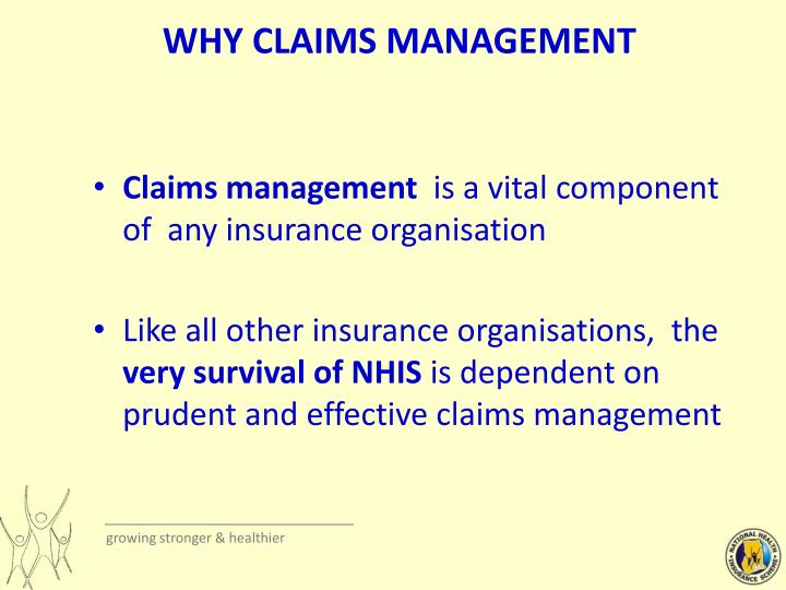 Why claims management
