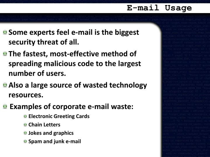 E-mail Usage