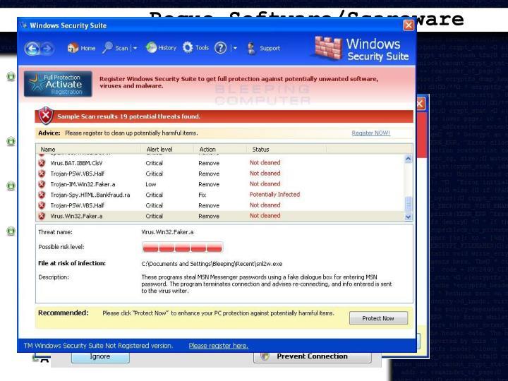 Rogue Software/Scareware