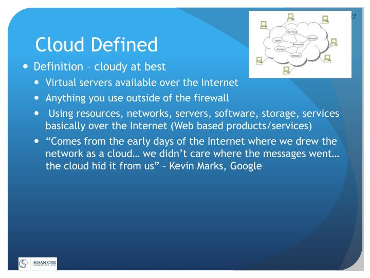 Cloud Defined