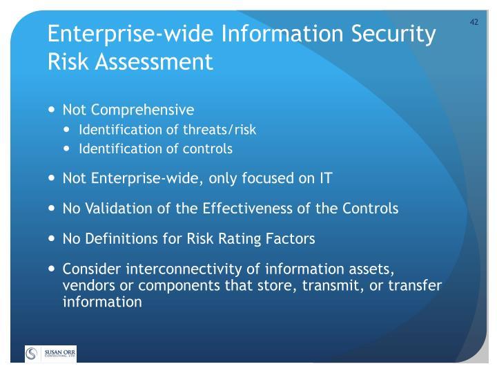 Enterprise-wide Information Security Risk Assessment
