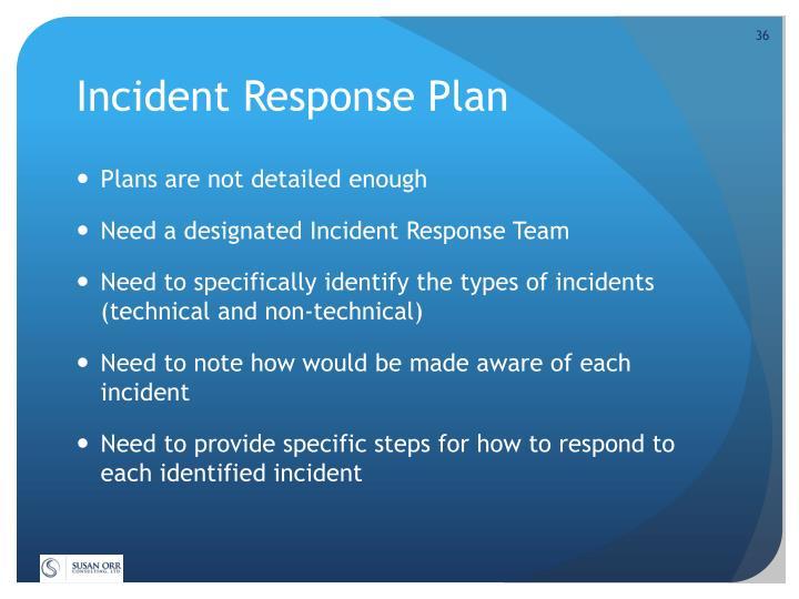 Incident Response Plan