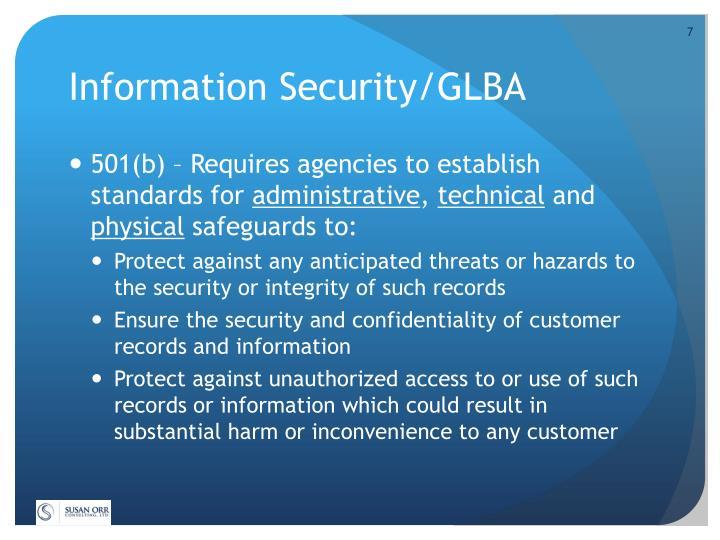Information Security/GLBA