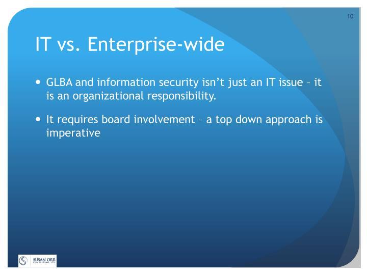 IT vs. Enterprise-wide