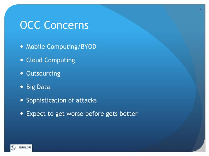 OCC Concerns
